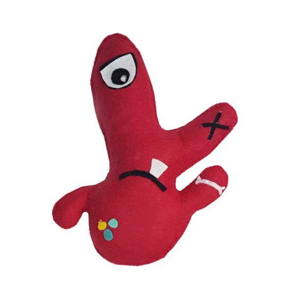 عروسک طرح میکروب بازیگوش کد 1 ارتفاع 25 سانتیمتر