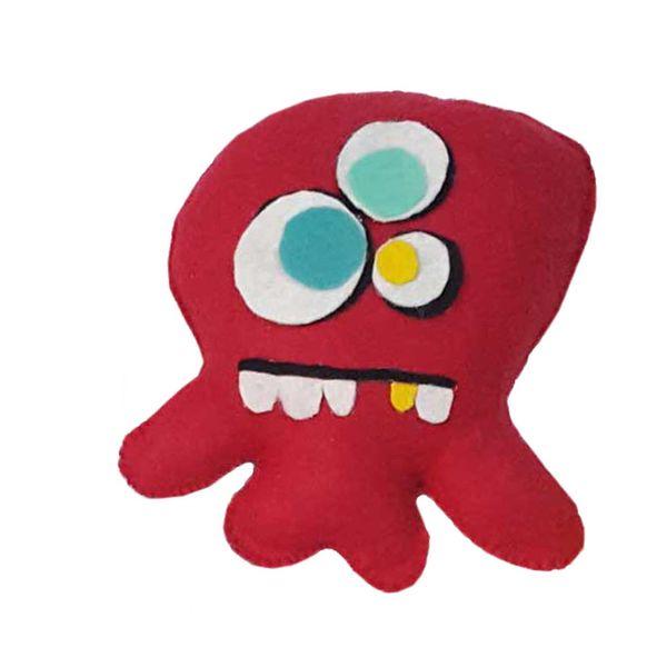 عروسک طرح میکروب بازیگوش کد 3 ارتفاع 20 سانتیمتر
