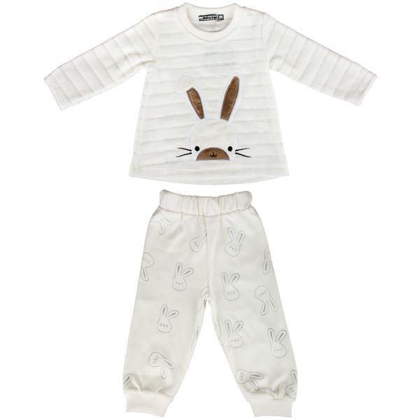ست بلوز و شلوار بچگانه بیبی لند طرح خرگوشی کد 208