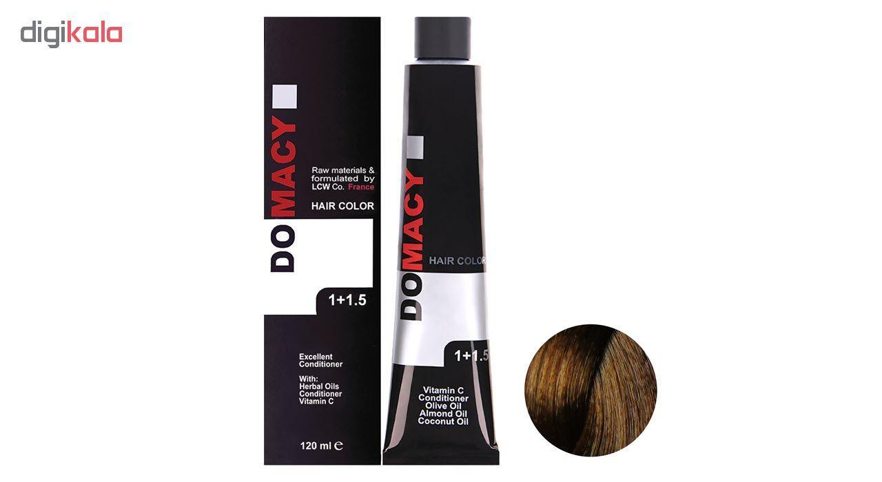 رنگ مو دوماسی سری عسلی شماره 7.34 حجم 120 میلی لیتر رنگ  بلوند عسلی متوسط main 1 1