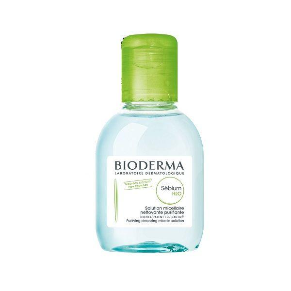 محلول پاک کننده آرایش بایودرما مدل Sebium H2O حجم 100 میلی لیتر