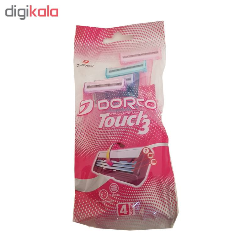 خودتراش زنانه مدل Touch3 دورکو بسته 4 عددی