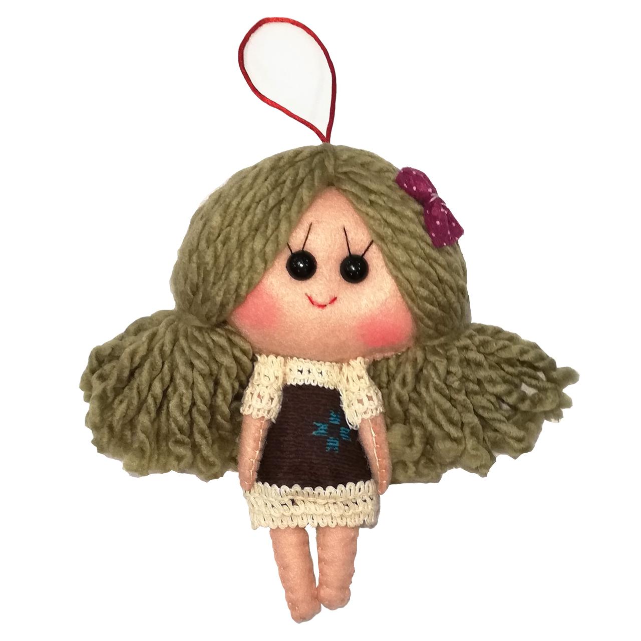 عروسک تزئینی طرح دختر بهار کد MRK2 ارتفاع 18 سانتی متر