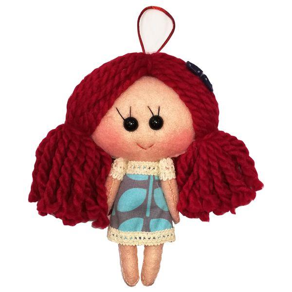 عروسک تزئینی طرح دختر بهار کد MRK3 ارتفاع 18 سانتی متر