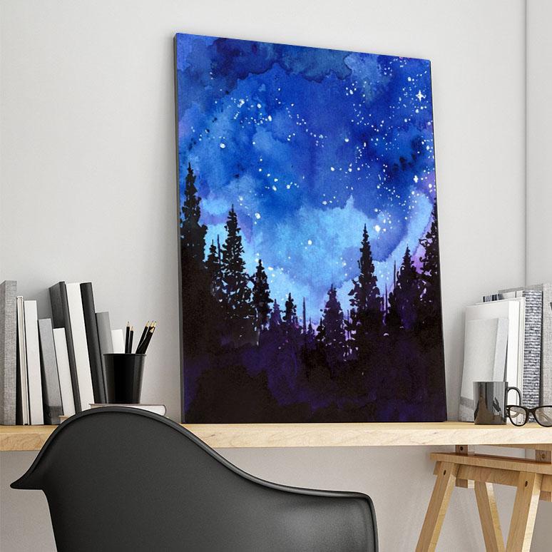 تابلو شاسی گالری استاربوی طرح شب مدل Sky & Star 01