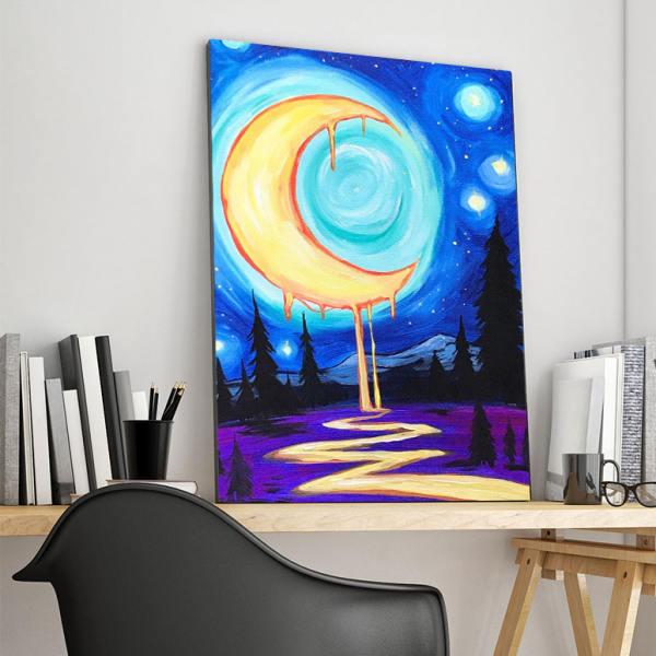 تابلو شاسی گالری استاربوی طرح ماه مدل Sky 01