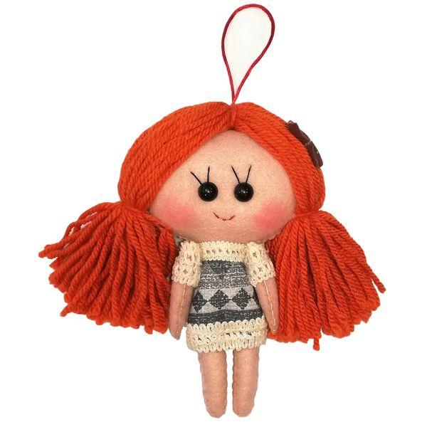 عروسک تزئینی طرح دختر بهار کد MRK4 ارتفاع 18 سانتی متر