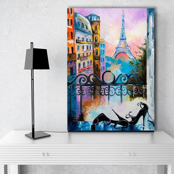 تابلو شاسی گالری استاربوی طرح برج ایفل مدل Amazing 51