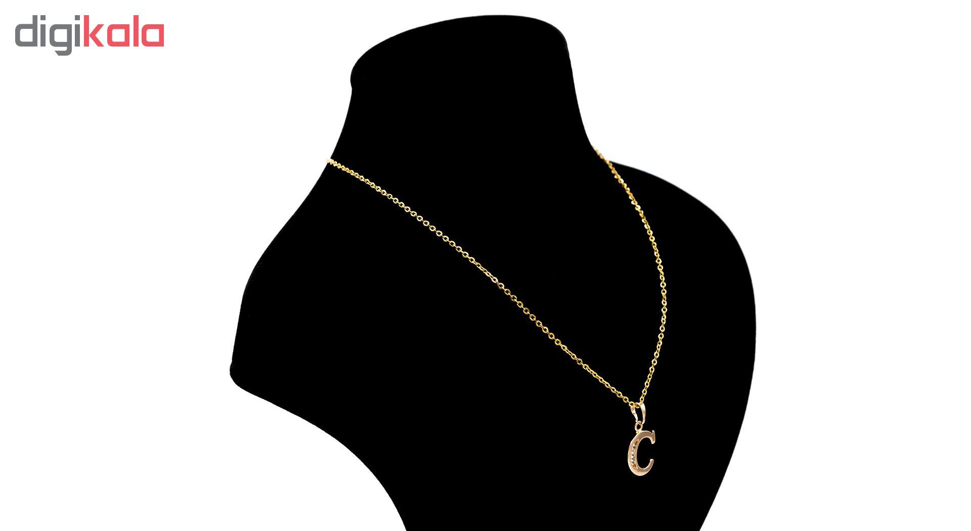 گردنبند بهارگالری مدل حرف C