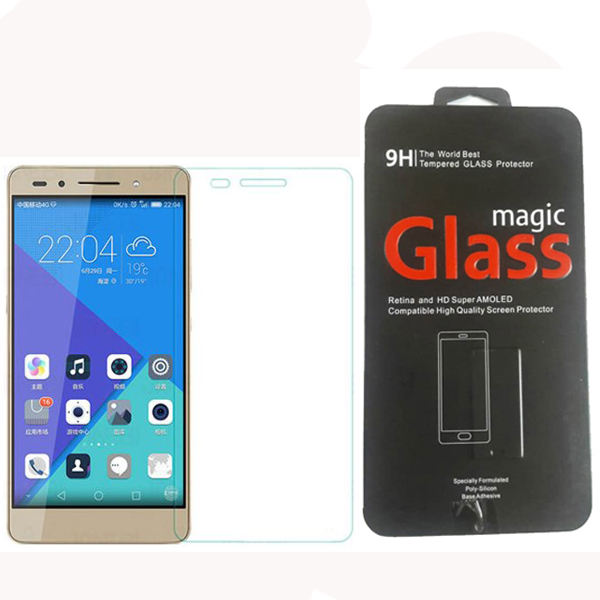 محافظ صفحه نمایش شیشه ای مقاوم پک فلزی مدل magic glass مناسب گوشی هواوی Honor 7