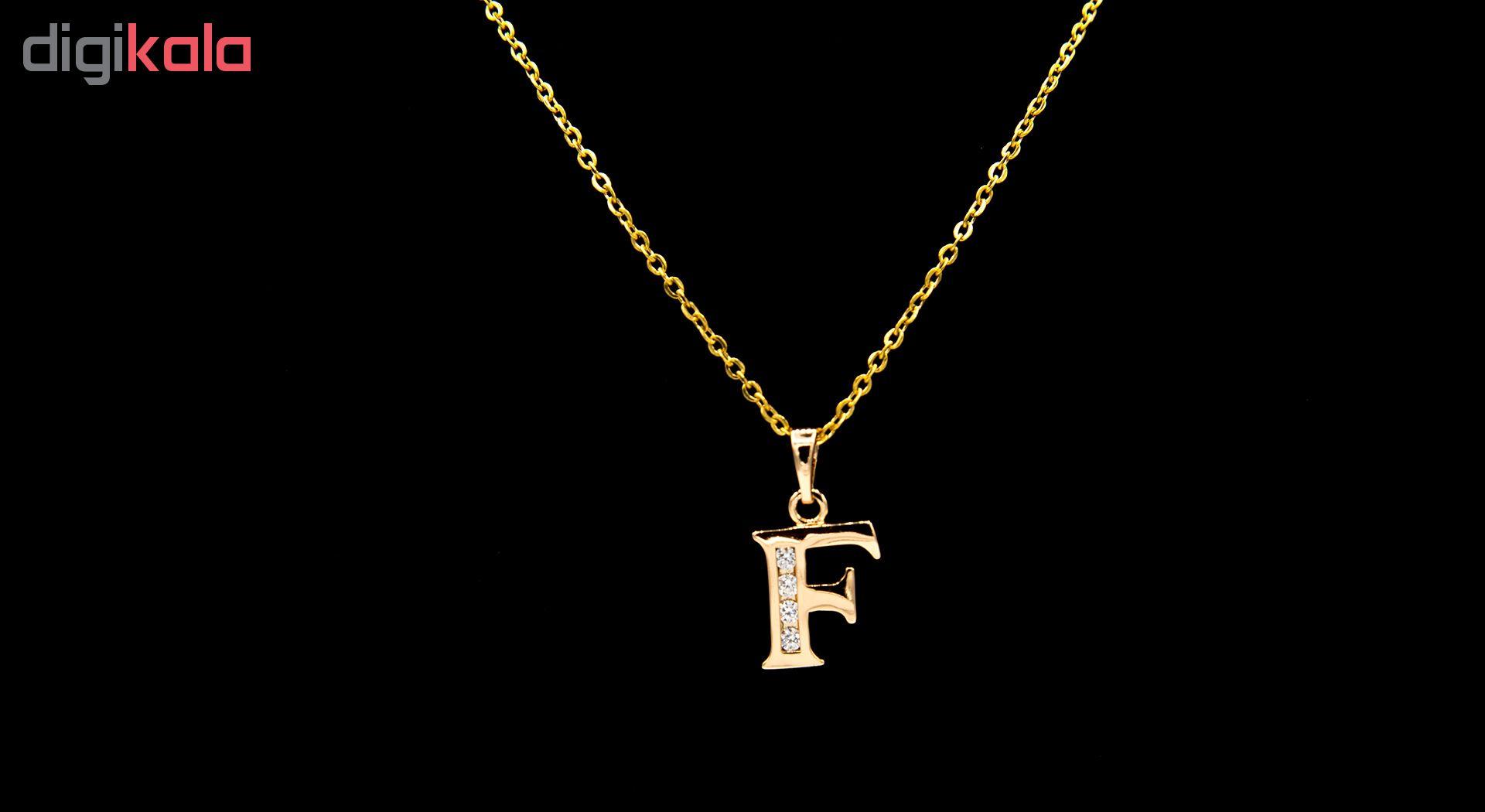 گردنبند بهارگالری مدل حرف F