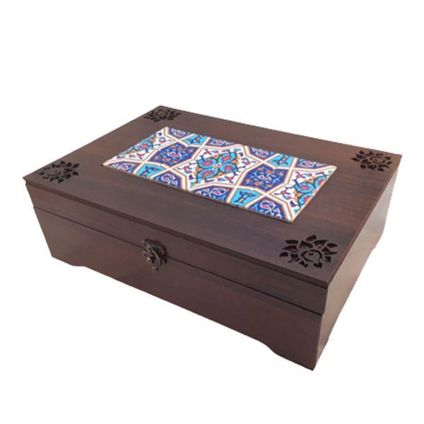 جعبه چای  کیسه ای عشقی مدل نیلی