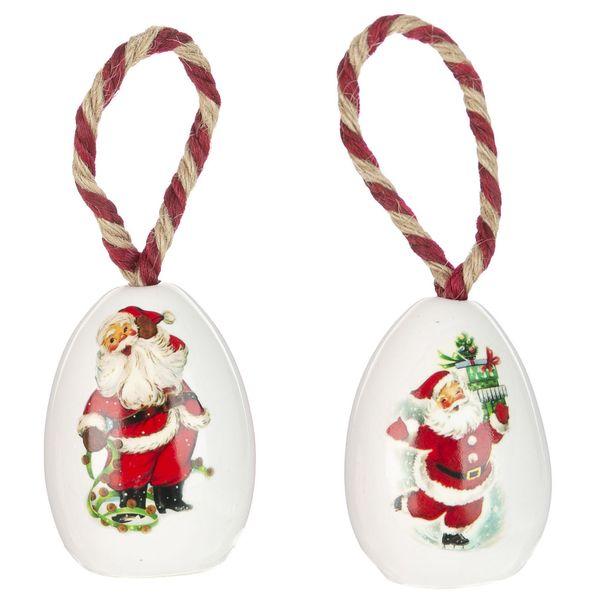 تخم مرغ تزیینی کریسمس مدل Cr5 مجموعه 2 عددی