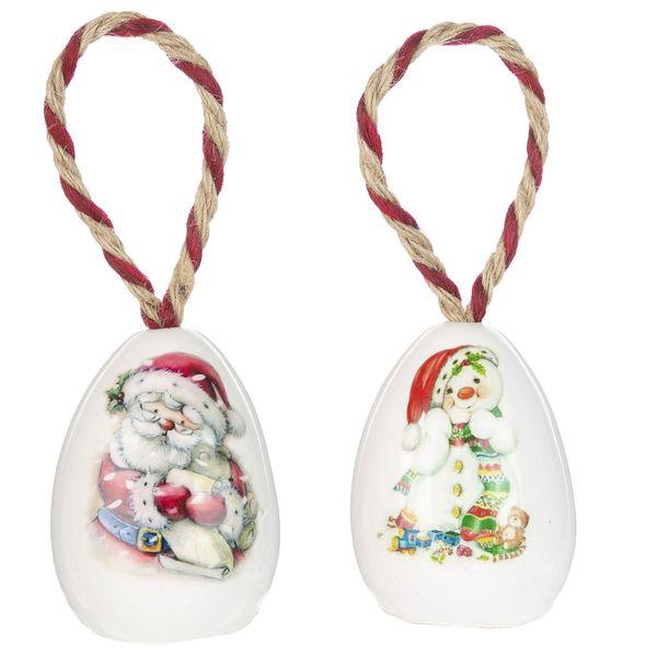 تخم مرغ تزیینی کریسمس مدل Cr6 مجموعه 2 عددی