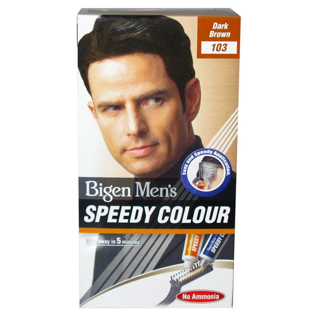 تصویر کیت رنگ مو بیگن سری speedy colour مدلdark brown شماره 103