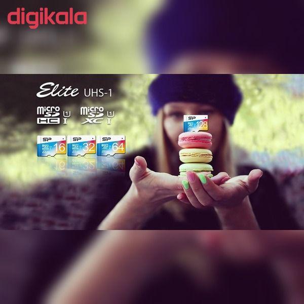 کارت حافظه microSDHC سیلیکون پاور مدل Elite کلاس 10 استاندارد UHC-I U1 سرعت 100MBps ظرفیت 32 گیگابایت main 1 4