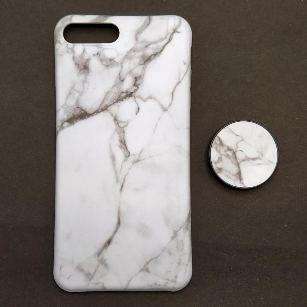 کاور مدل ماربل کد 03 مناسب برای گوشی موبایل اپل iPhone 7 Plus / 8 Plus به همراه پایه نگهدارنده