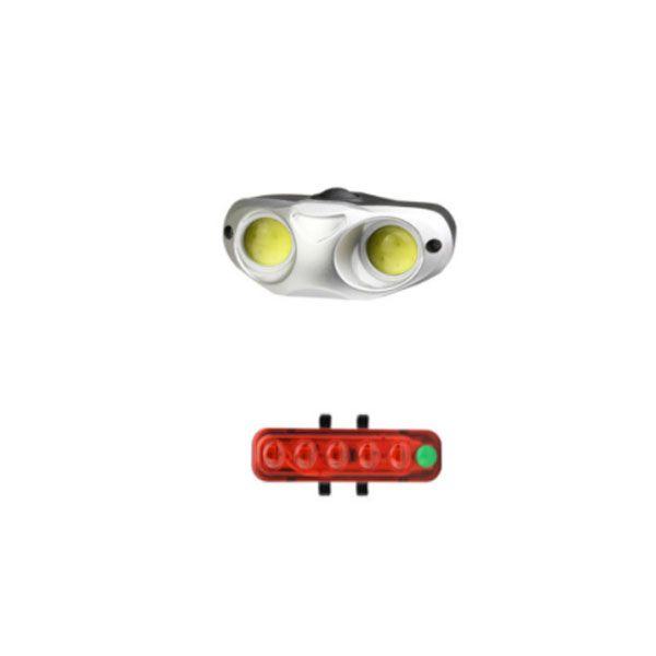 چراغ جلو و عقب دوچرخه کیکسون مدل qx-t0205