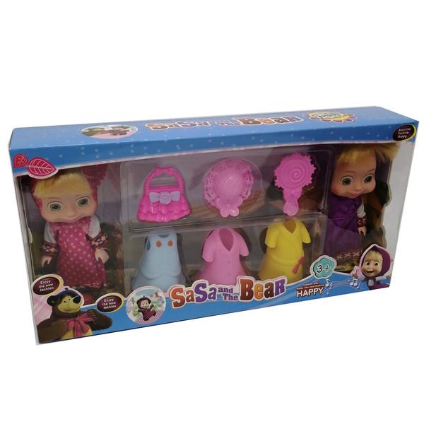 عروسک مدل ماشا مجموعه 8 عددی