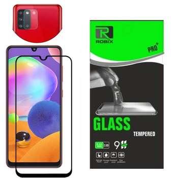 محافظ صفحه نمایش روبیکس مدل FUL A51 مناسب برای گوشی موبایل سامسونگ Galaxy A51 به همراه محافظ لنز دوربین