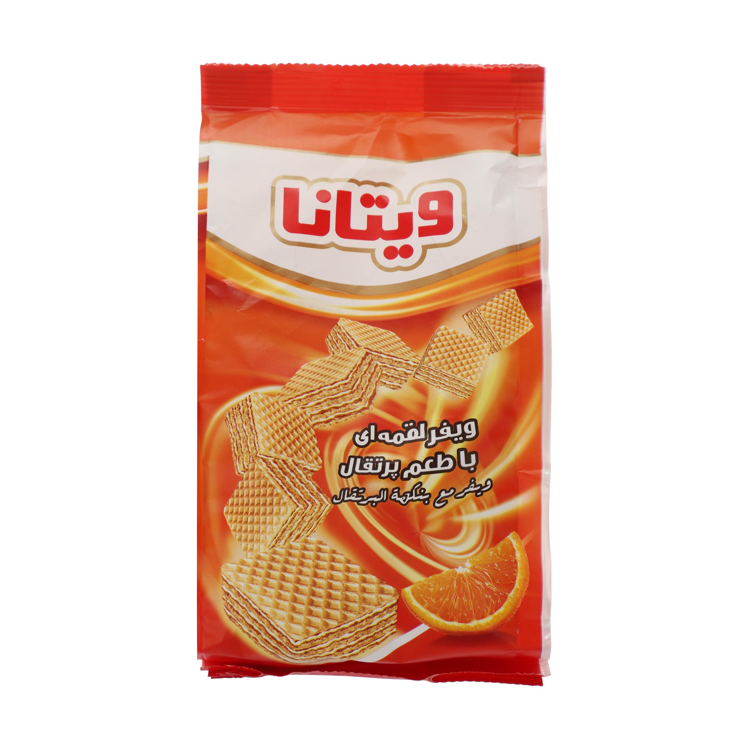 ویفر لقمه ای ویتانا با طعم پرتقال - 105 گرم