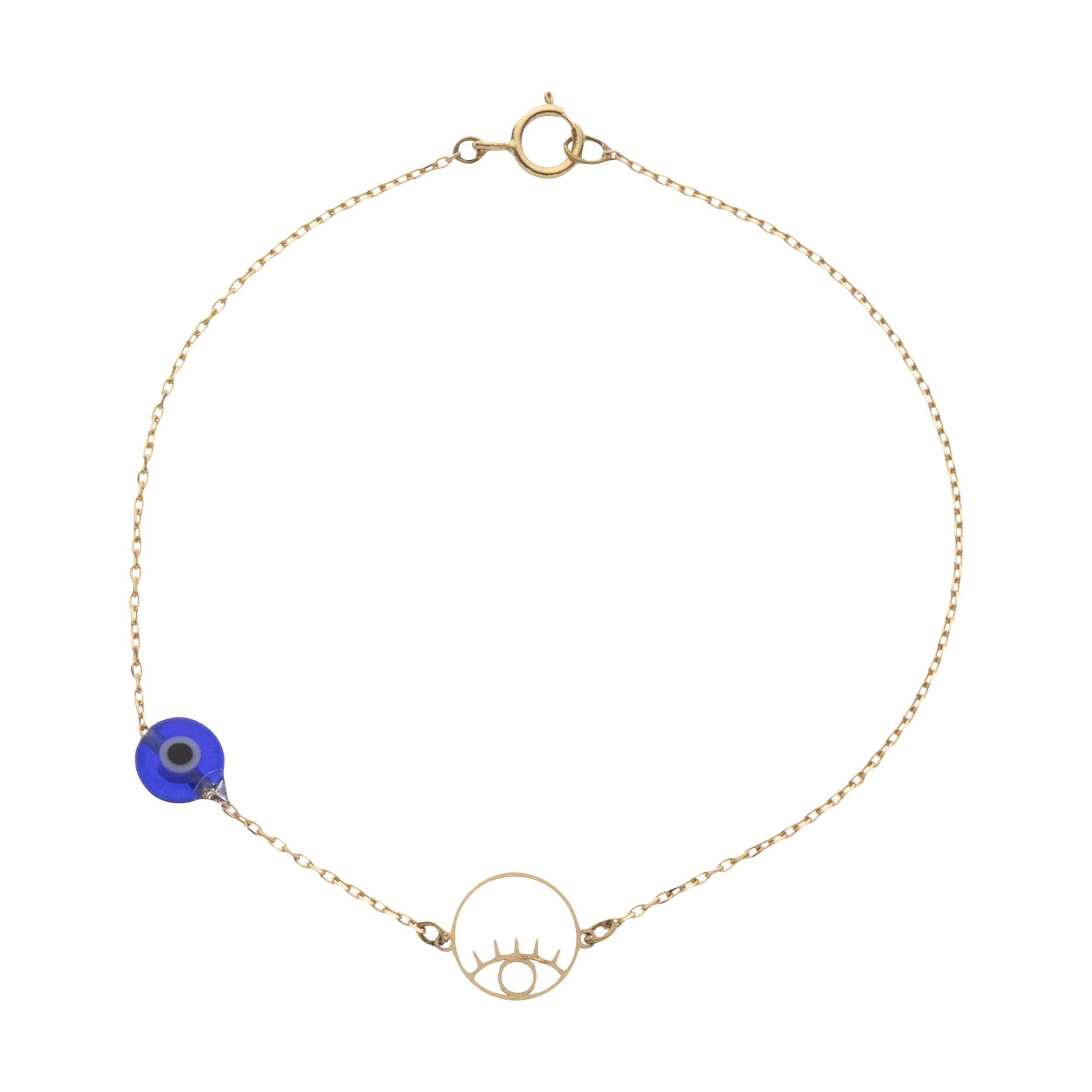 دستبند طلا 18 عیار زنانه نیوانی مدل DA2004