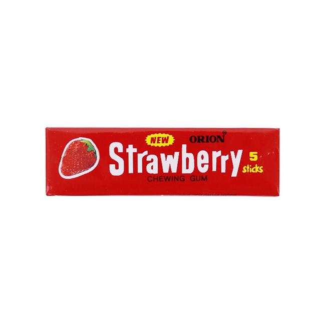 آدامس اوریون با طعم توت فرنگی بسته 5 عددی