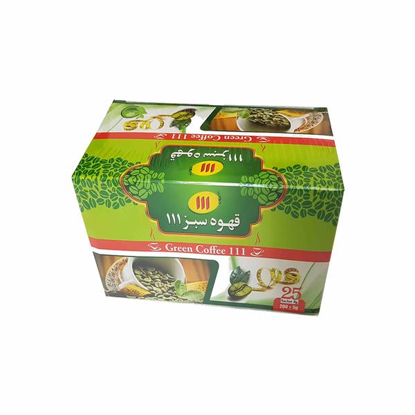 قهوه سبز 111 بسته 25 عددی