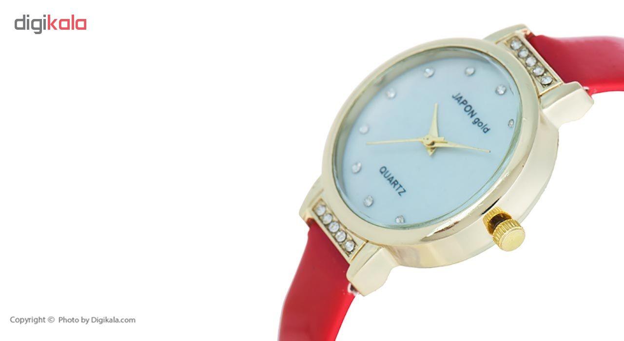 ساعت مچی عقربه ای زنانه ژاپن گلد مدل Fn01
