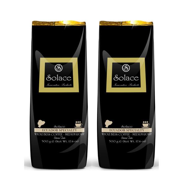 دانه قهوه سولیس مدل Ecuador SPECIALTY مجموعه 2 عددی