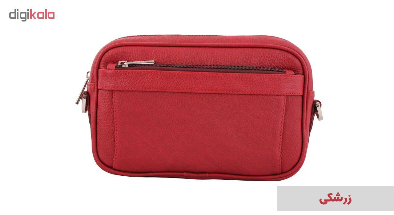 کیف دوشی زنانه چرم طبیعی جانتا مدل 494