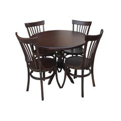 ست میز و صندلی ناهار خوری چوبی اسپرسان چوب مدل k14