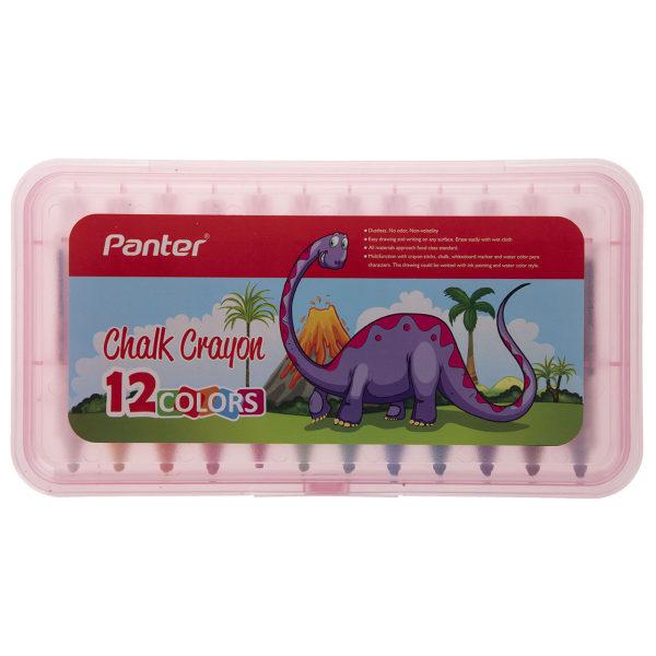 مداد شمعی گچی پنتر مدل CHC722 بسته 12 عددی