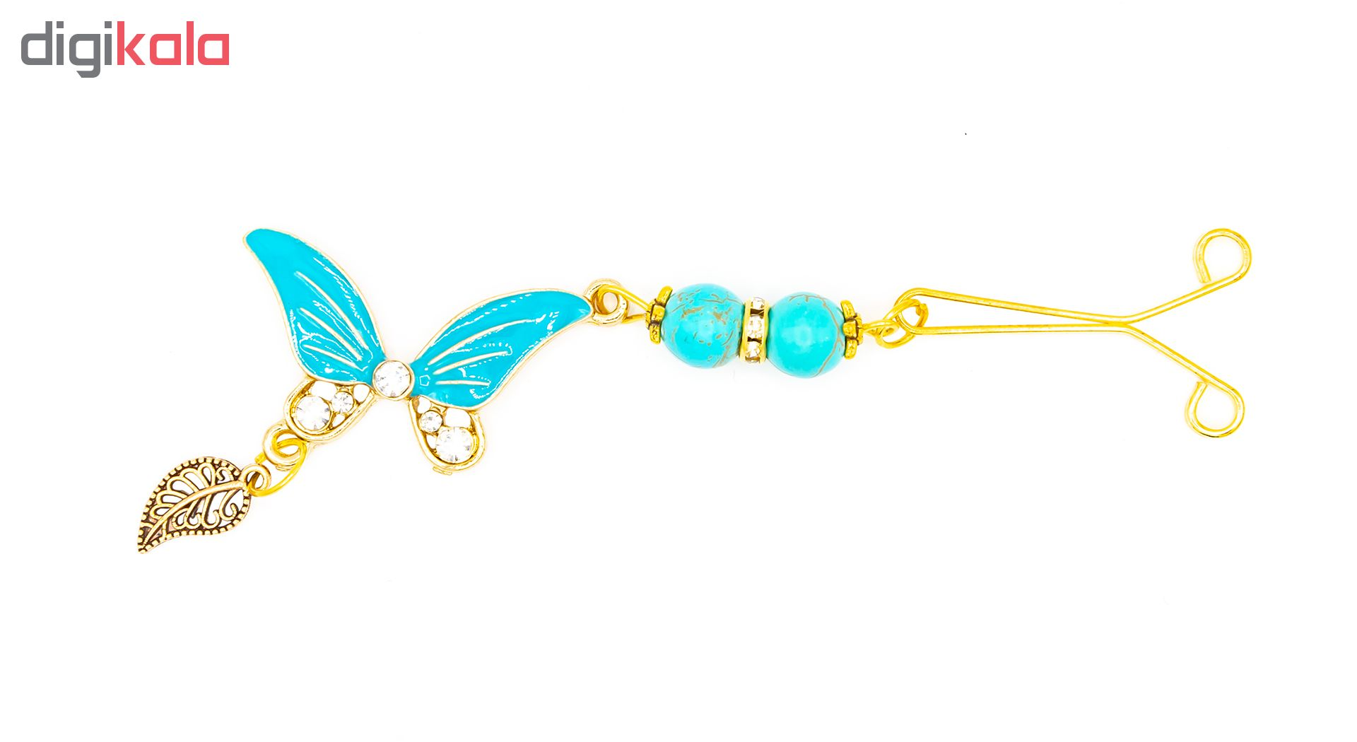 گیره روسری بهارگالری طرح پروانه
