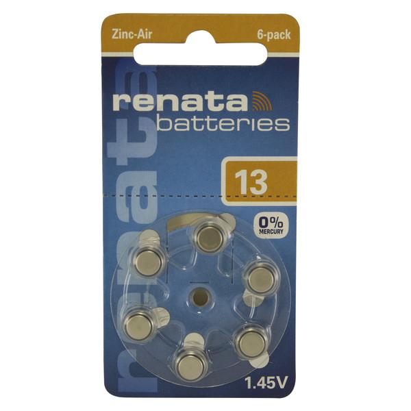 باتری سمعک رناتا مدل 13 بسته 6 عددی