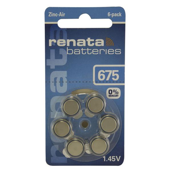 باتری سمعک رناتا مدل 675 بسته 6 عددی