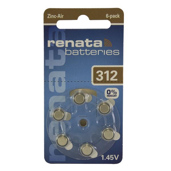 باتری سمعک رناتا مدل 312 بسته 6 عددی