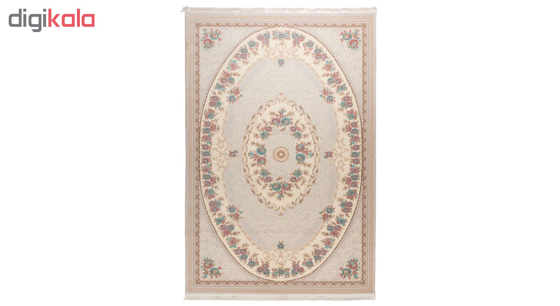 فرش ماشینی دنیای فرش  گل برجسته کد 236  کرم thumb 2 1