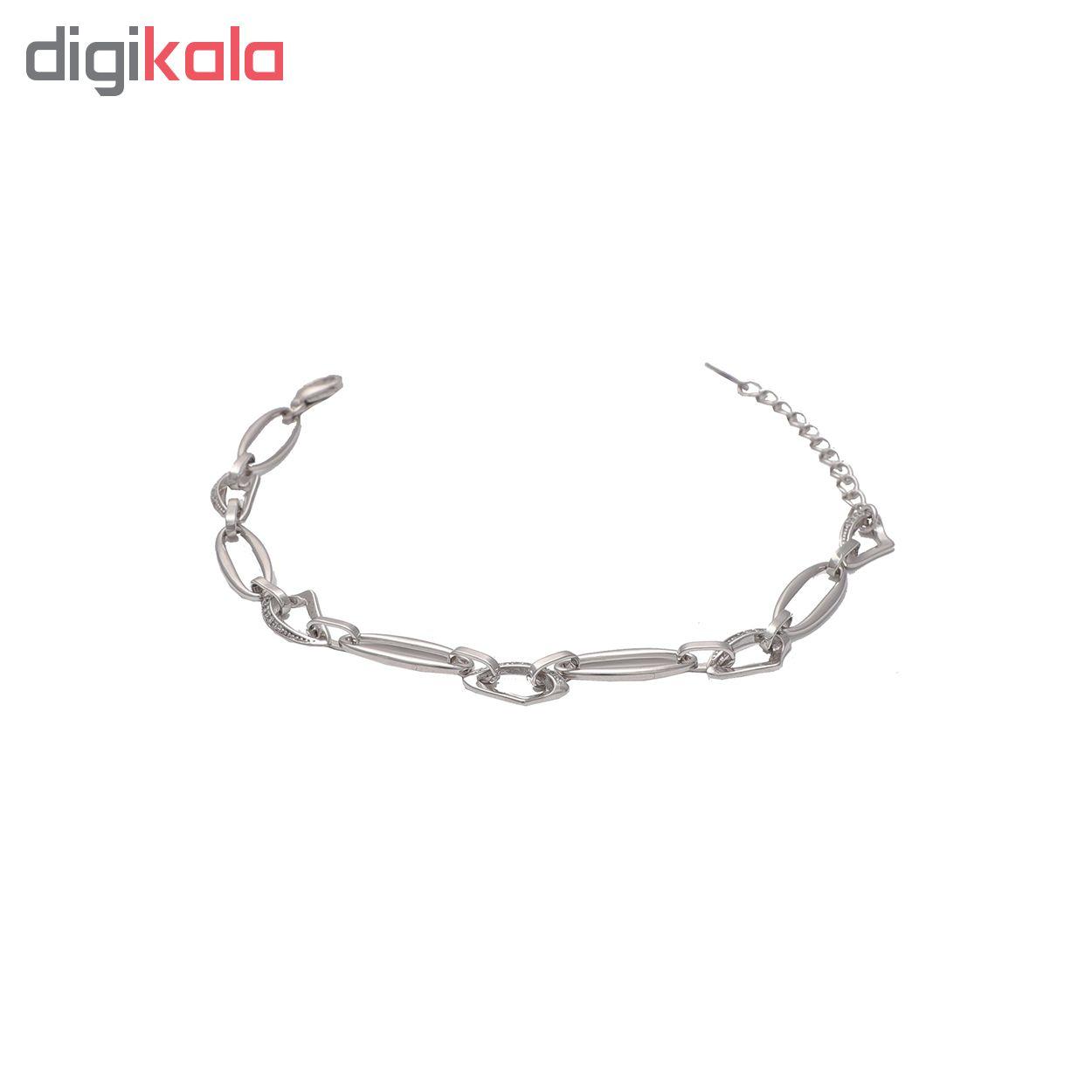 دستبند نقره کد B1003 thumb 2 1