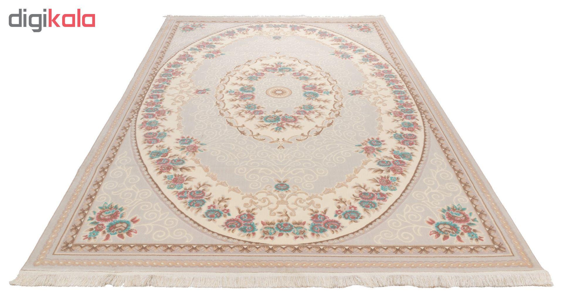 فرش ماشینی دنیای فرش  گل برجسته کد 236  کرم thumb 2 2