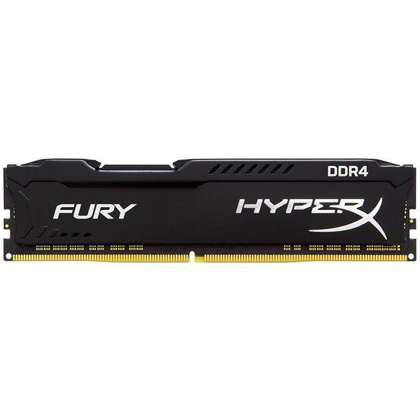 رم دسکتاپ DDR4 تک کاناله 3200 مگاهرتز CL18 کینگستون مدل HyperX Fury Black ظرفیت 16 گیگابایت