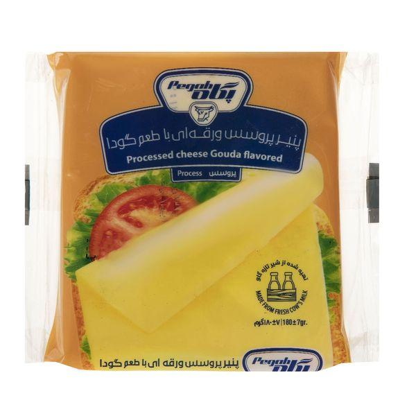 پنیر پروسس ورقه ای با طعم گودا پگاه مقدار 180گرم