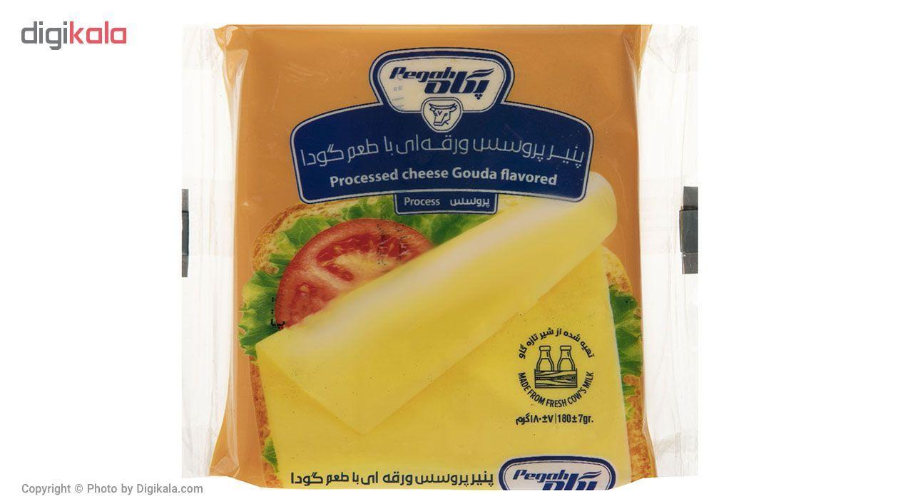 پنیر پروسس ورقه ای با طعم گودا پگاه مقدار 180گرم main 1 1