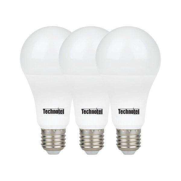 لامپ ال ای دی 18 وات تکنوتل مدل 318 پایه E27 بسته 3 عددی