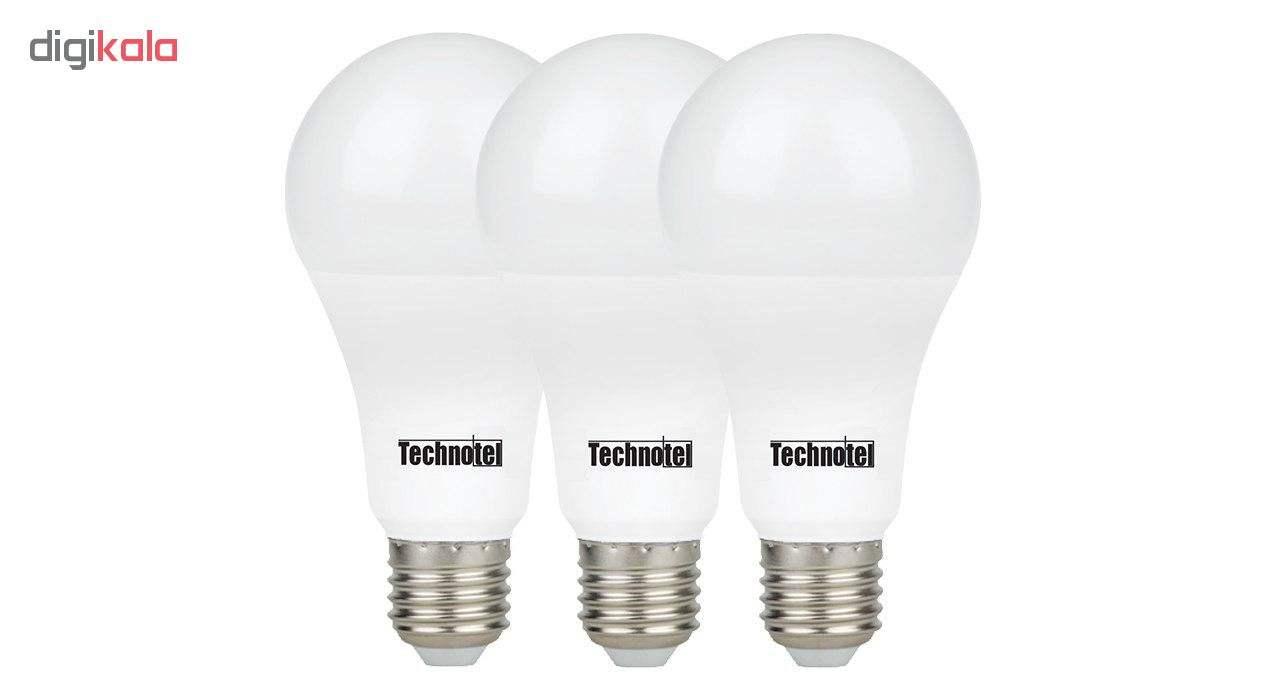 لامپ ال ای دی 18 وات تکنوتل مدل 318 پایه E27 بسته 3 عددی main 1 1