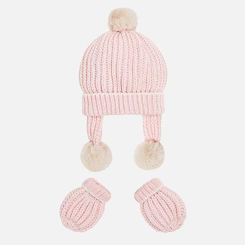 ست کلاه و دستکش نوزادی دخترانه مایورال مدل MY09903-44