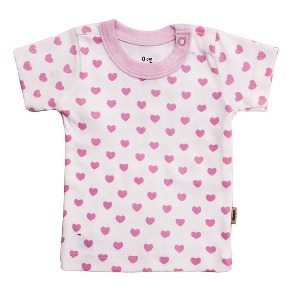 تی شرت آستین کوتاه نوزادی آدمک طرح قلب