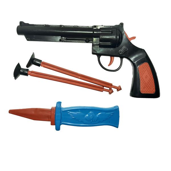 ست تفنگ بازی مدل کلت و خنجر