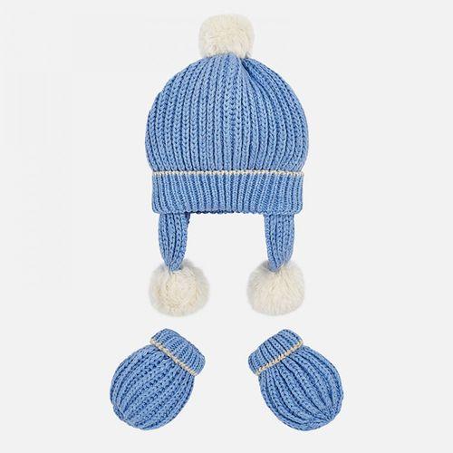 ست کلاه و دستکش نوزادی پسرانه مایورال مدل MY09903-42