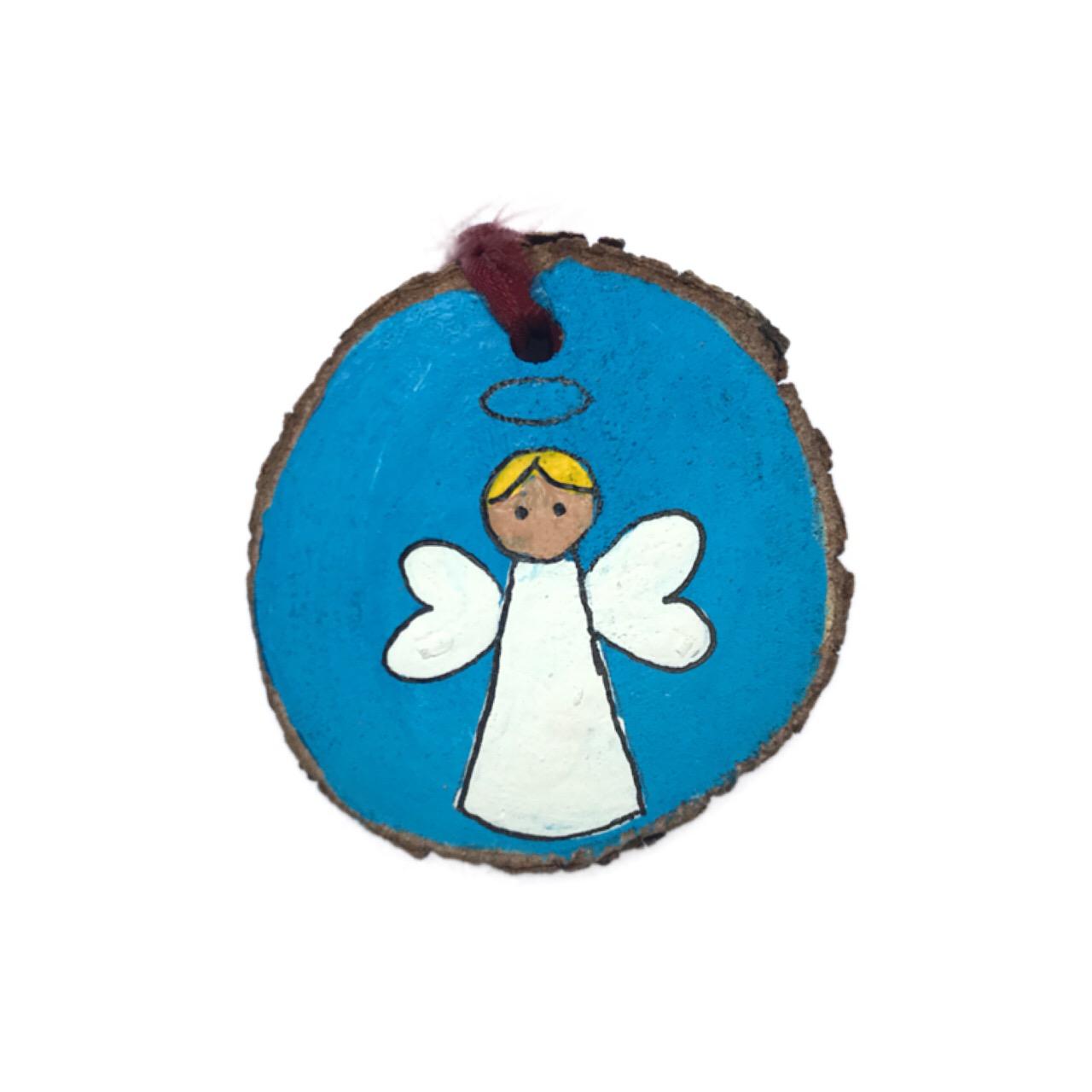 آویز تزیینی فیل چوب مدل فرشته